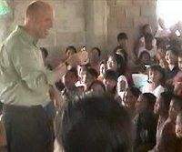 Brad performs at a Philippine church